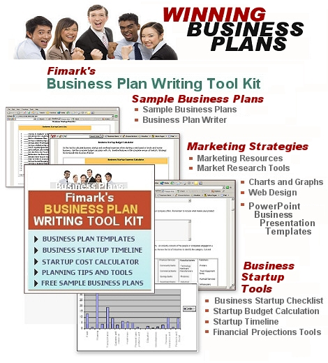 Business plan writing tool kit